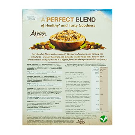 Amazon.com : Alpen The Swiss Recipe Dark Chocolate 625g - mit dunkler Schokolade nach original schweizer Rezept! : Grocery & Gourmet Food