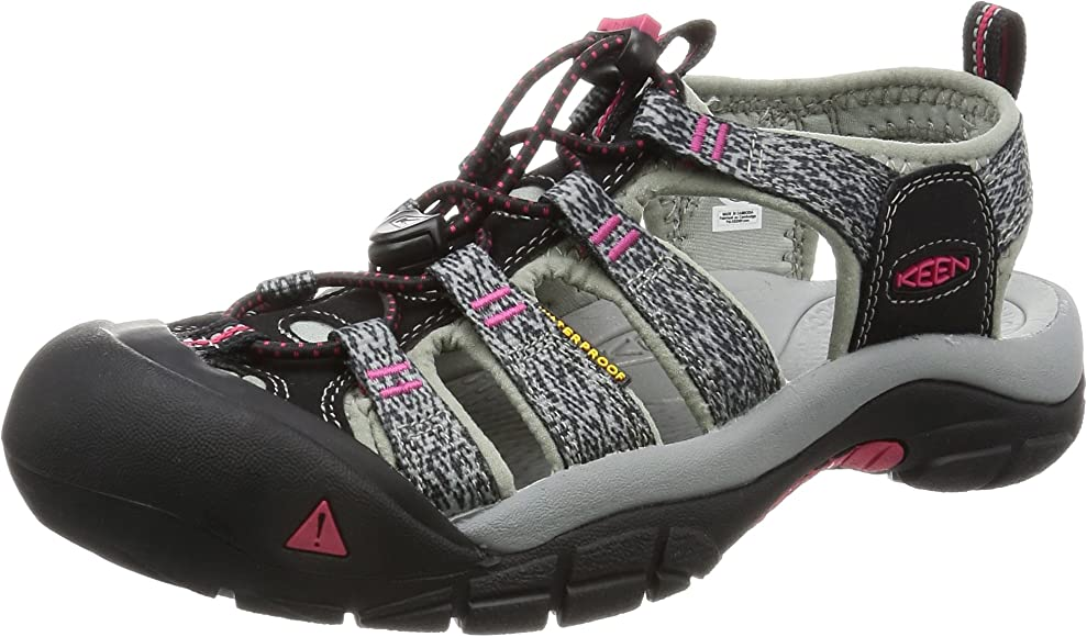 d1d3bdc4d09 Amazon.com | KEEN Women's Newport H2 Sandal, Black/Bright Rose, 5 M ...