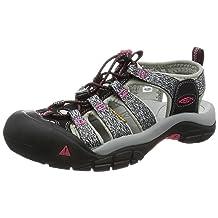 KEEN Women's Newport H2 Sandal, Black/Bright Rose, 11 M US