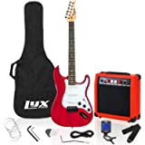 LyxPro Electric Guitar with 20w Amp, Package Includes All Accessories, Digital Tuner, Strings, Picks, Tremolo Bar…