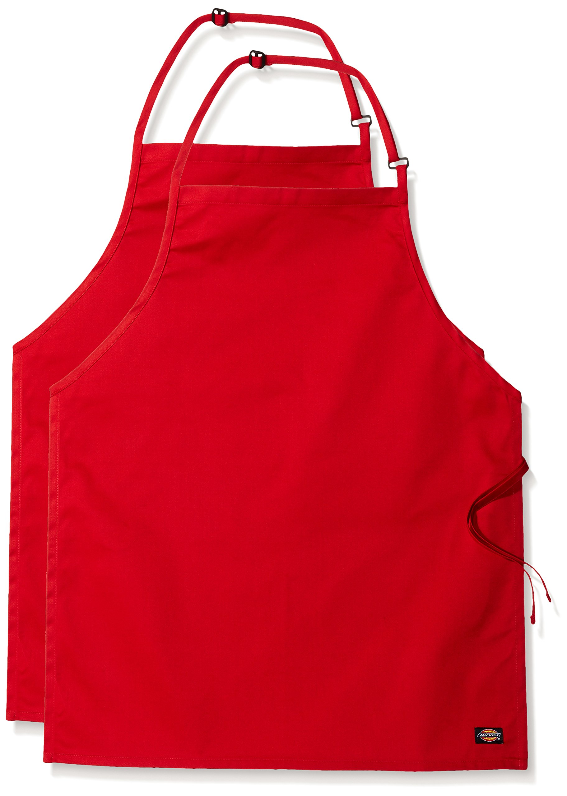 Dickies Chef Women's 3 Pack Adjustable Bib Apron, Red, One Size
