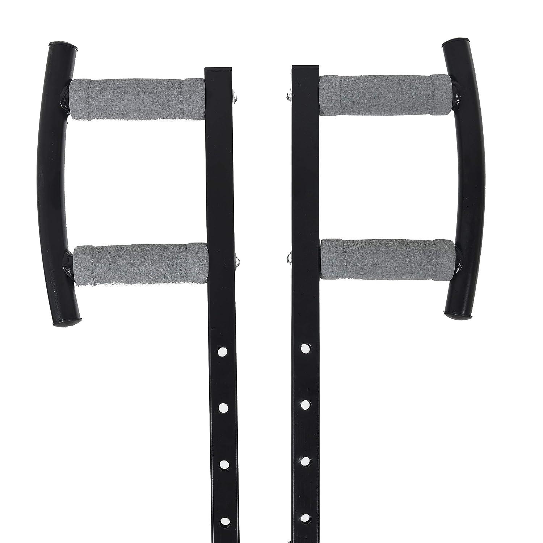 Kemket Appareil de Fitness et Musculation Pliable Vertical Climber /écran LCD Multi-Fonction int/égr/é Acier Noir