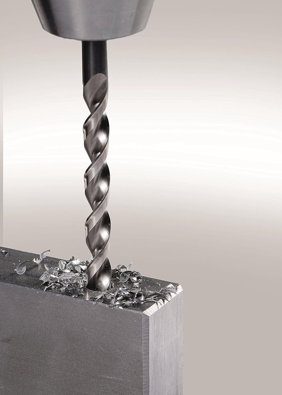 5/% kobaltlegiert mit sehr hoher thermischer Belastbarkeit f/ür gr/ö/ßere Bohrtiefen geeignet /Ø 1 0,5 stg. 13 mm punktgenau Bohrer // HSS Cobalt Forte Spiralbohrersatz KM 25 25-teilig