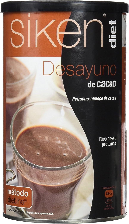 Siken Diet Desayuno - Bote de 400 g de cacao, 84 Kcal/ración: Amazon.es: Salud y cuidado personal