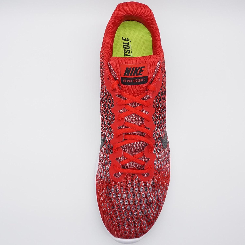 NIKE 2 Men's Air Max Sequent 2 NIKE Running Shoe B01H2LO41K 15 D(M) US|Red/Black/Black/Cool Grey 6759de