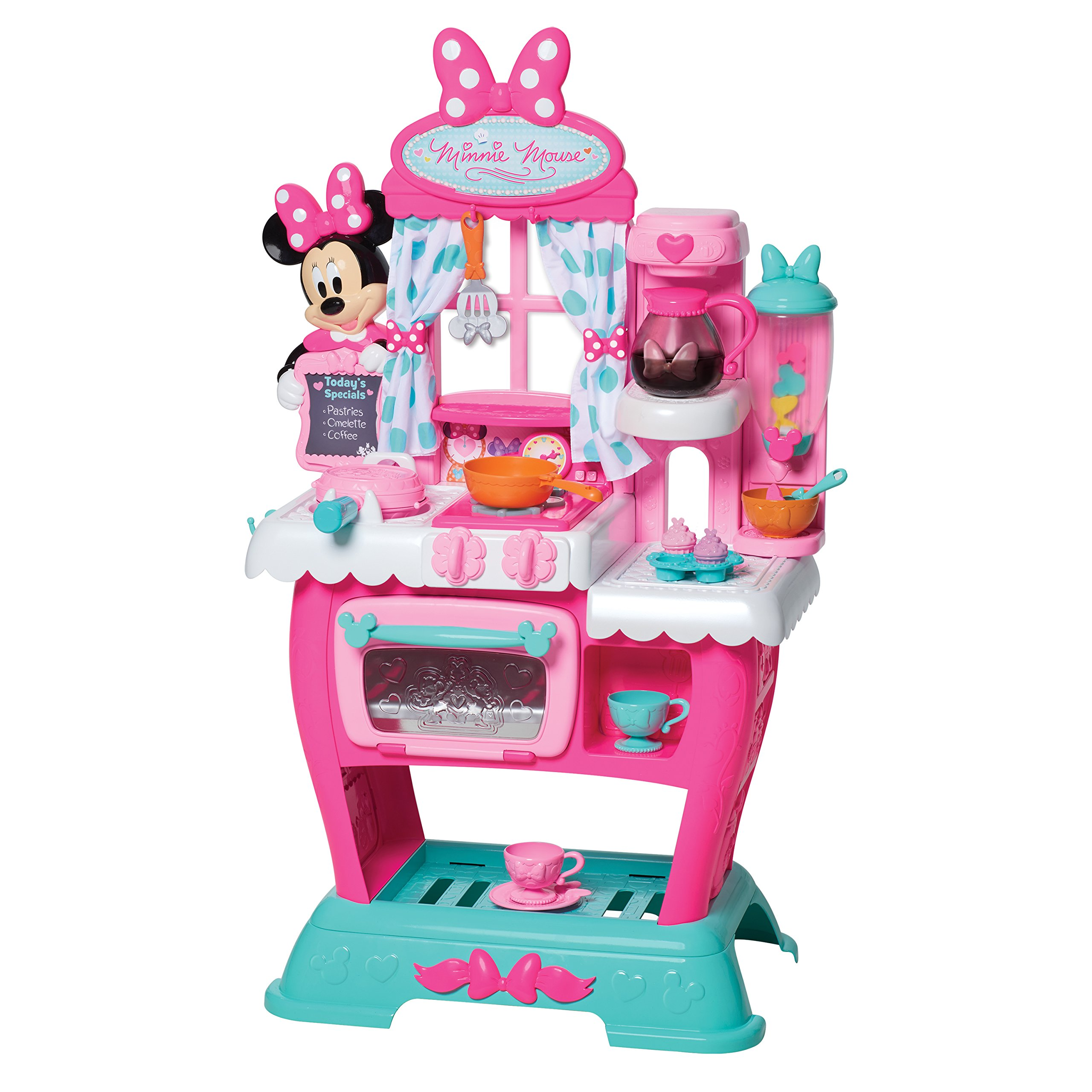 Just Play 89371 Minnie's Happy Helpers Brunch Café Kitchen Accessory Set, 39'' by Just Play