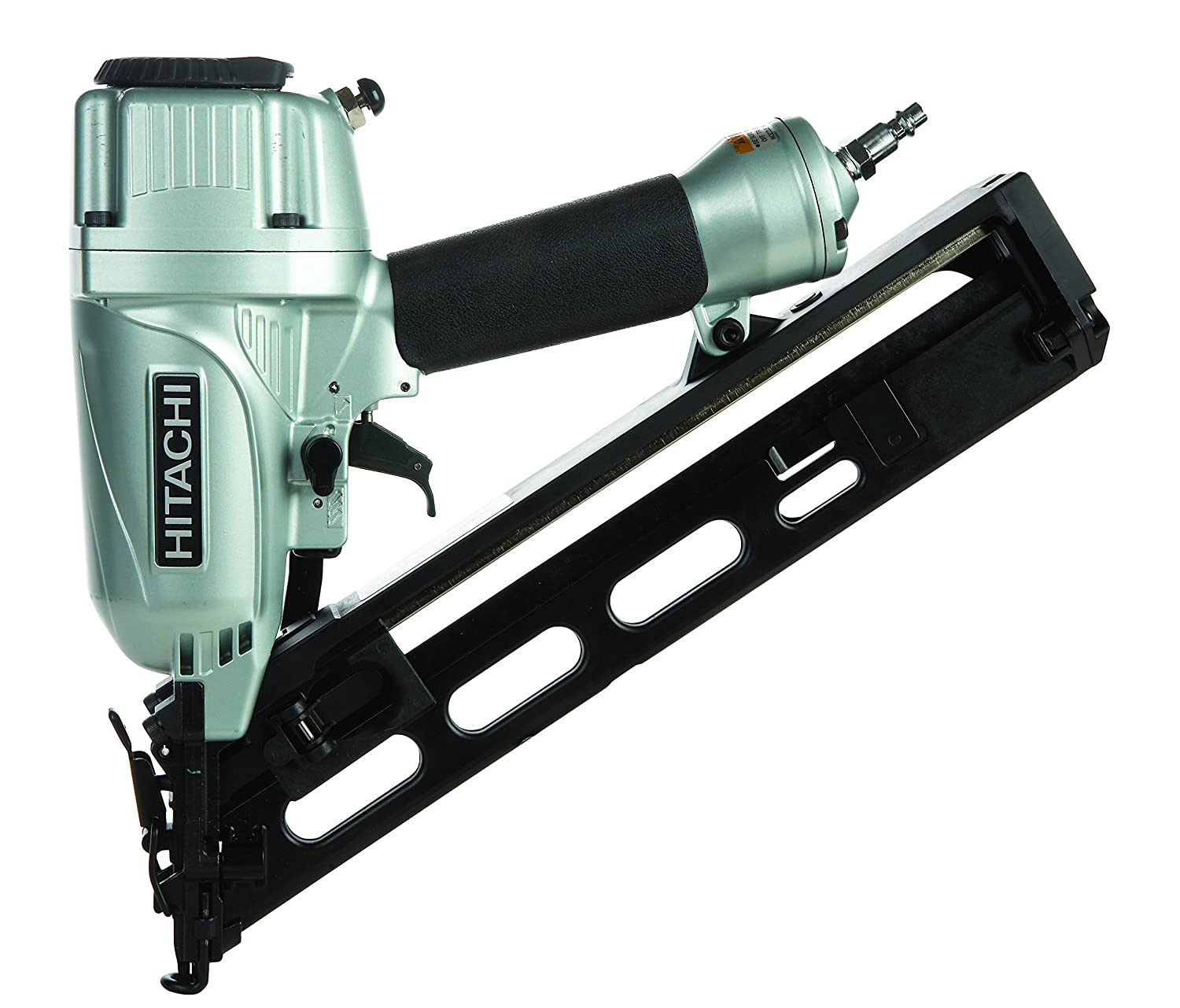 Hitachi NT65MA4 1 1 4 Inch to 2 1 2 Inch 15 Gauge Angled Finish Nailer with Air Duster