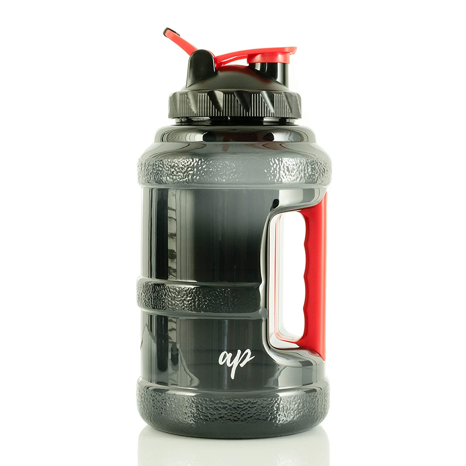 AP Sport Half Gallon Water Bottle with Filter   Lightweight Jug for Sports   Clear Nontoxic Plastic Drink Container with Leak-Proof Lid   Best Used for Gym, Camp, Office, Running and Hiking