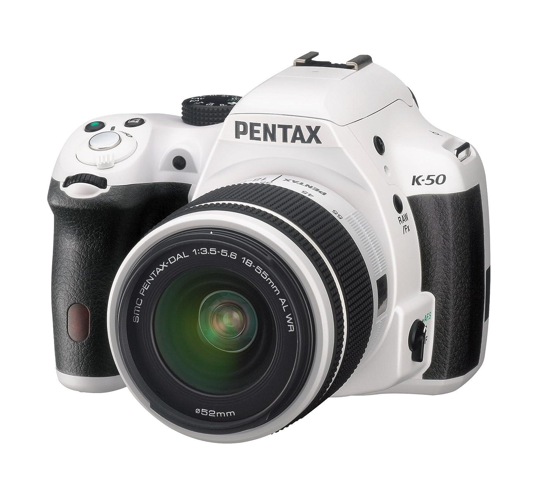 Camera White Dslr Cameras pentax ks 1 dslr camera white amazon co uk photo k 50 with dal 18 55mm wr lens kit white