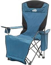 Qeedo Johnny Relax Silla para Acampada, Tumbona reclinable - Azul