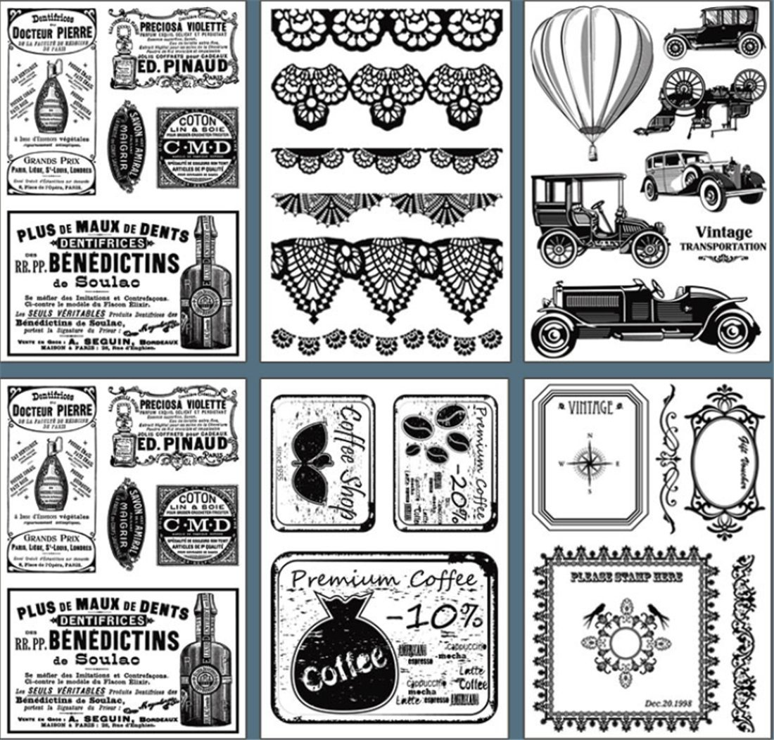 Layhome Newest Clear Stamp Silicone Stamp Scrapbooking Stamping (Learning) by Layhome (Image #5)
