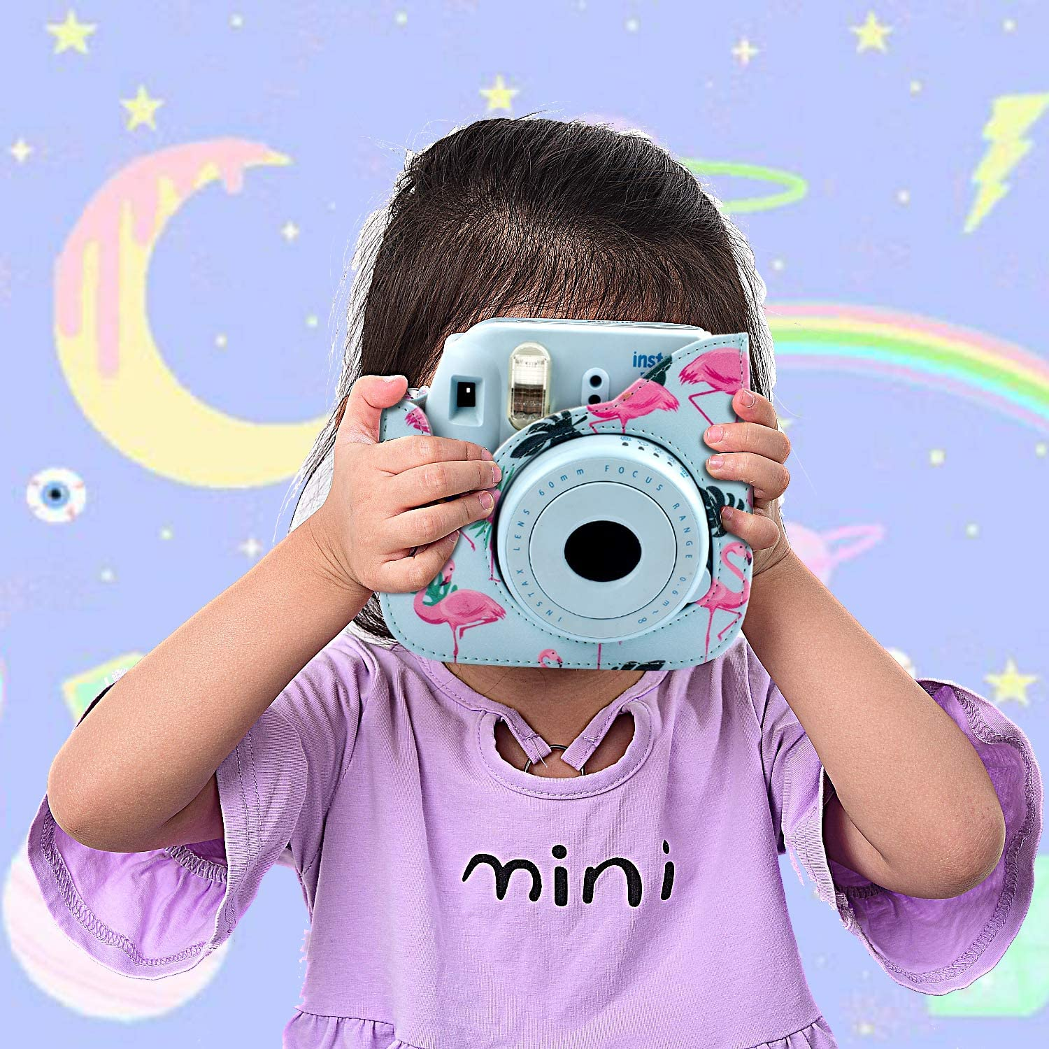 Owls on Tree,9 Items Kit Strap/&Other Accessories Filters by SAIKA Bundle Pack Include Albums Case /& Accessories Compatible with Fujifilm Instax Mini 9//8//8+ Instant Polaroid Film Camera