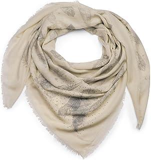 7207c8ae0412 styleBREAKER foulard XXL avec imprimés à plumes et applications à plumes et  rivets à strass,