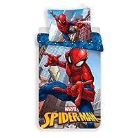 Jerry Fabrics Ropa de Cama para Niños con Cremallera, Diseño Spiderman, Poliéster, 200x140x0.5 cm