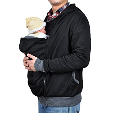 TUOKING Newborn Kangaroo Sweater Clothing Dad à Manches Longues Manteaux à  Manches Courtes (M, 96d1738f392