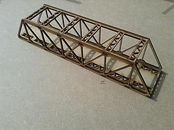 Model Railway Double Track Girder Bridge Wooden Kit N Gauge Laser