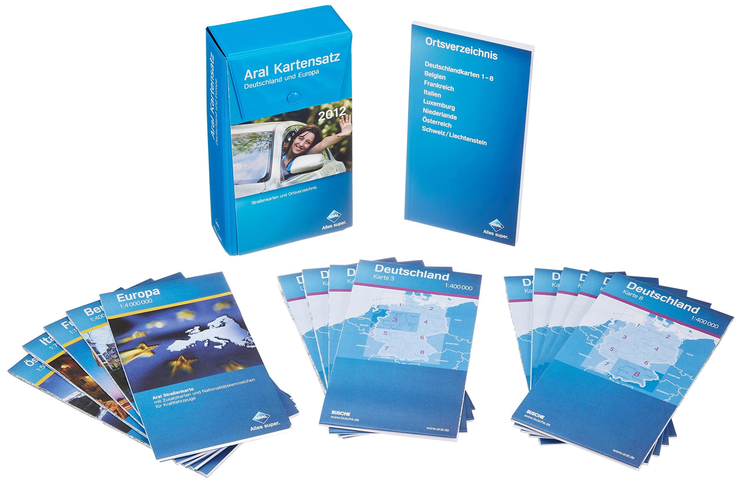 Aral Kartensatz 2012: Deutschland und Europa
