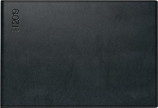 rido/idé 701752390 Taschenkalender Septimus, 2 Seite = 1 Woche, 152 x 102 mm, Kunststoff-Einband Skivertex schwarz, Kalendarium  2019