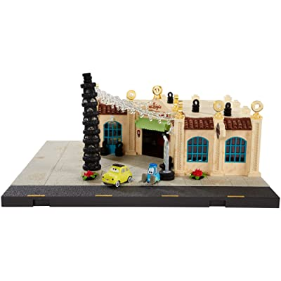 Disney Pixar Cars Precision Series Luigi's Casa Della Tires Playset: Toys & Games