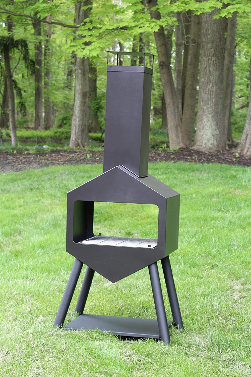amazon com oliver and smith large iron outdoor patio chiminea
