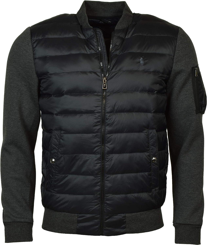 populärt varumärke så billigt köper nytt Polo Ralph Lauren Mens Hybrid Down Performance Bomber Jacket Black ...