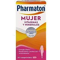 Pharmaton | Multivitaminas | Energía diaria | Mujer 30 comprimidos | Ayuda a las mujeres…
