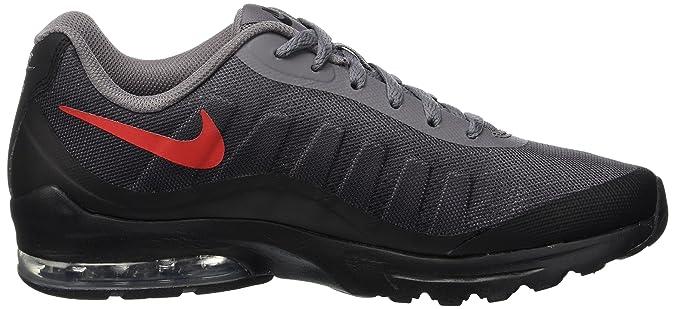 Nike Men's Air Max Invigor Print Running Shoe, GunsmokeUniversity Red Black, 13