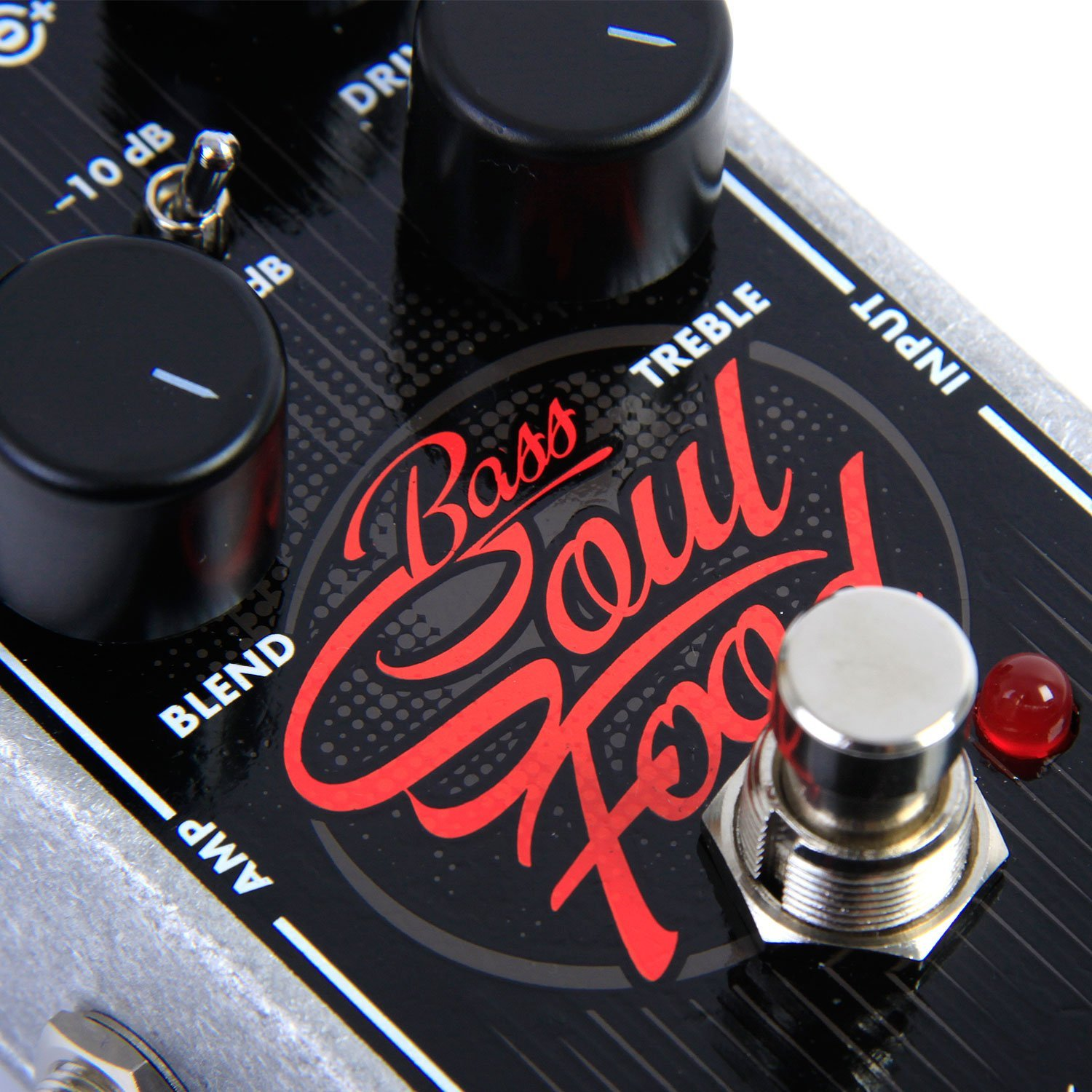 Electro-Harmonix Bass Soul Food Bass Distortion Effects Pedal by Electro-Harmonix