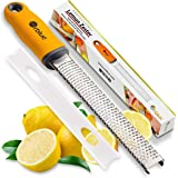 Orblue PRO Citrus Zester & Cheese Grater - Kitchen Tool for Lemon, Parmesan, Ginger, Garlic, Nutmeg, Chocolate, Veggies…