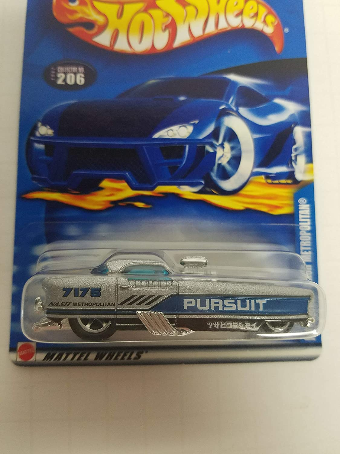 Metrorail Nash Metropolitan Hot Wheels 2002 diecast 1/64 scale car No. 206