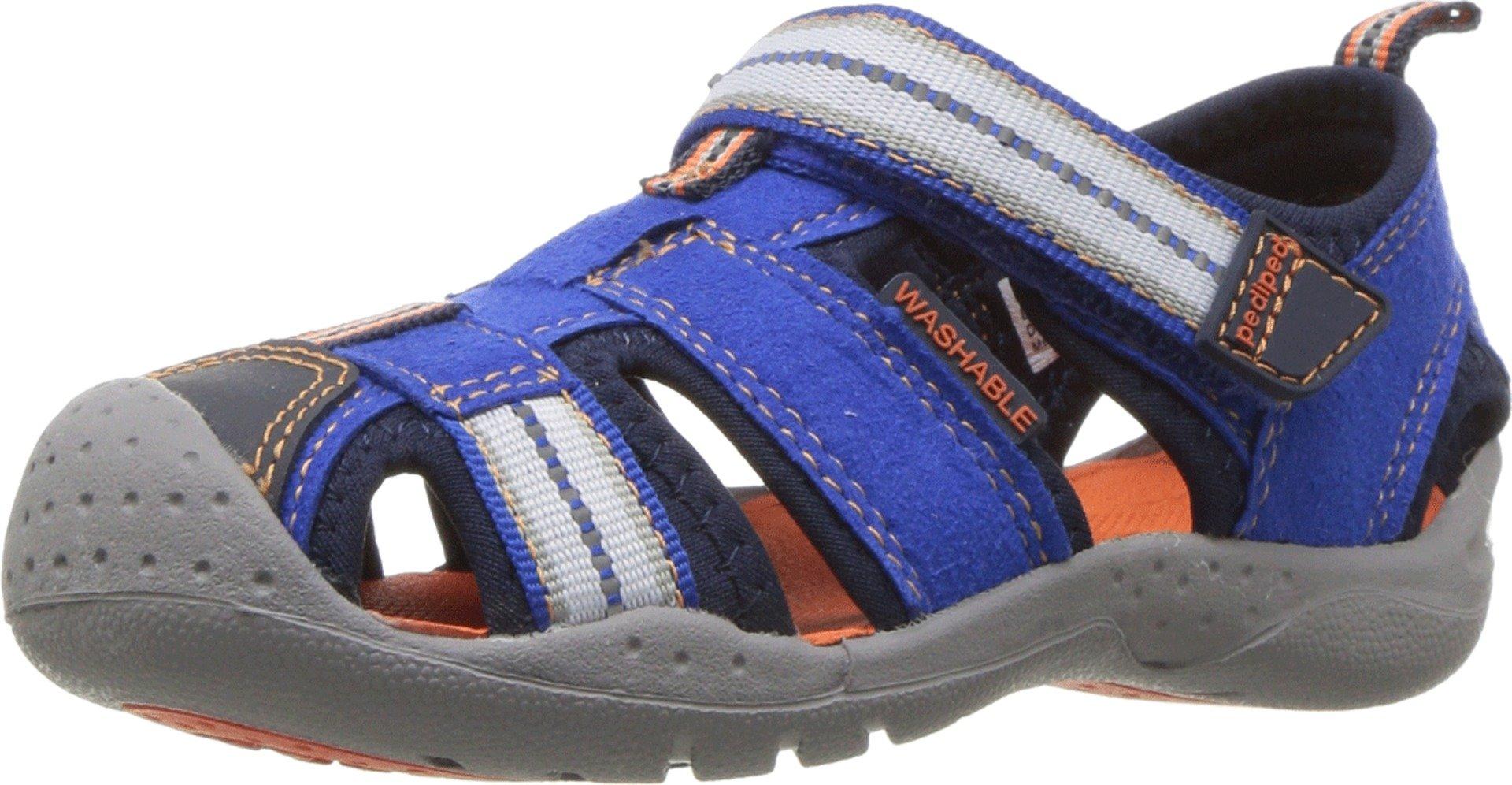 pediped Sahara Blue/Orange. Water Shoe (Toddler/Little Kid) Sandal