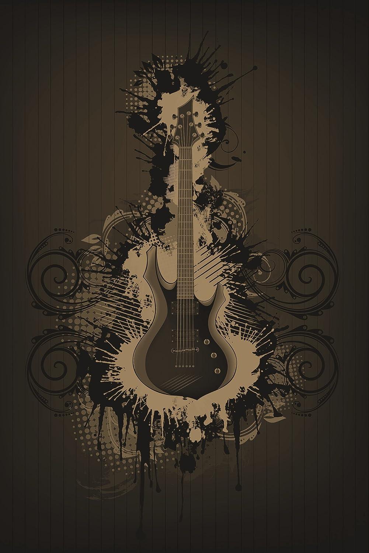 Bilderdepot24 Autoadhesivo Fotomural Guitarra eléctrica - Amarillo ...