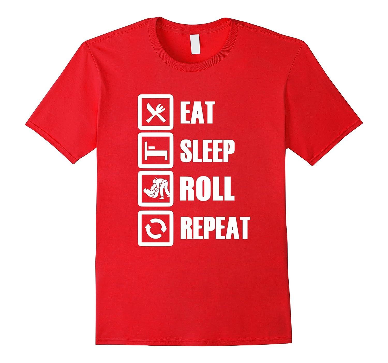 Grappling Wear - Eat Sleep Roll Repeat Jiu Jitsu Tshirt-CD