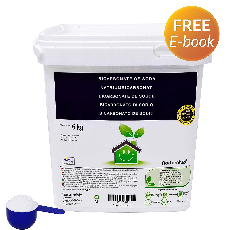 NortemBio Bicarbonato de Sodio 6kg, Insumo Ecológico de Origen Natural, Libre de Aluminio, Producto CE.: Amazon.es: Hogar