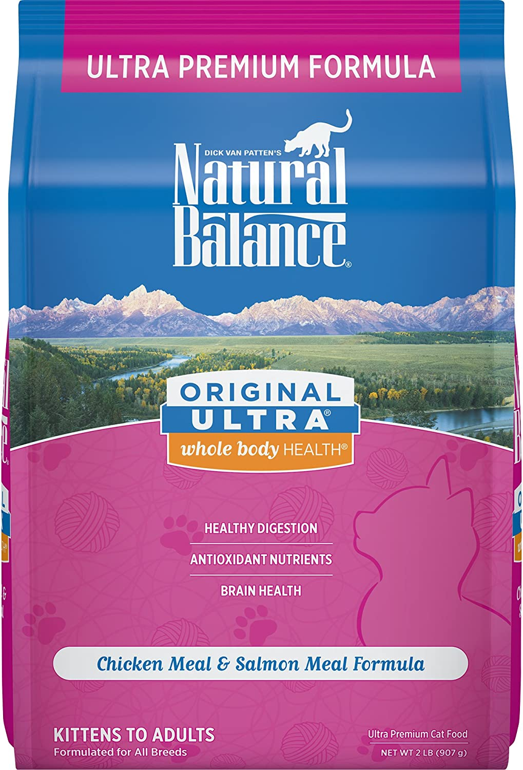 Natural Balance Original Ultra Whole Body Health Dry Cat Food, Chicken Meal & Salmon Meal Formula, 2 Pounds