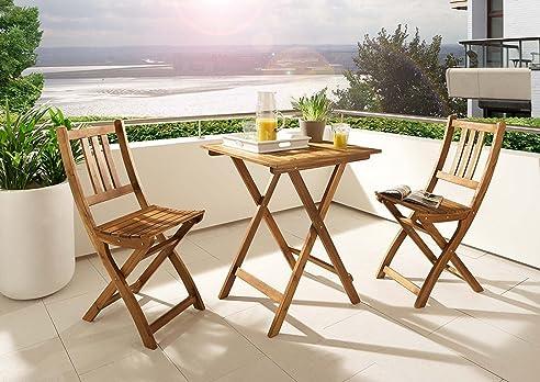 SAM® 3 Teilige Balkongruppe, Garten Möbel Aus Akazienholz, 1 X Tisch