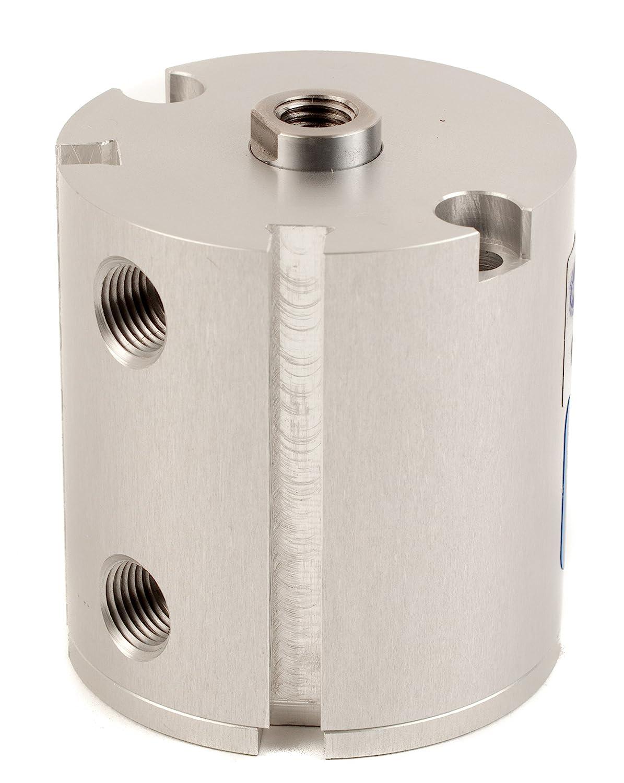 Fabco-Air F-121-X-E Original Pancake Cylinder, Double Acting, Maximum Pressure of 250 PSI, Switch Ready with Magnet, 1-1/8' Bore Diameter x 1-1/4' Stroke 1-1/8 Bore Diameter x 1-1/4 Stroke FAB   F-121-X-E