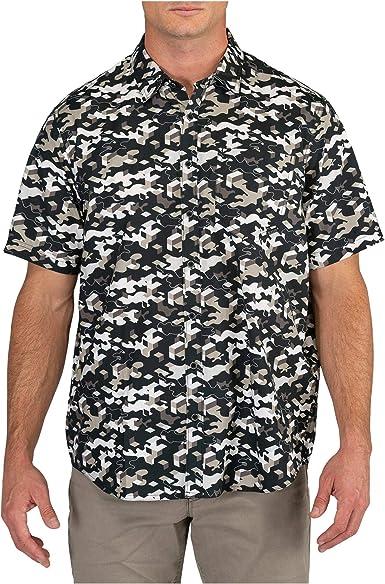 5.11 Camisa táctica de camuflaje para hombre con botones, algodón de poliéster, estilo 71382 - Negro - Small: Amazon.es: Ropa y accesorios