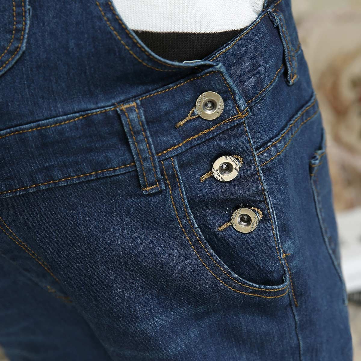 cc7f9b1a2f1d Amazon.com  Aivtalk Women Maternity Spring Soft Denim Overalls Adjustable  Jumpsuit Fit Belly Pants  Clothing