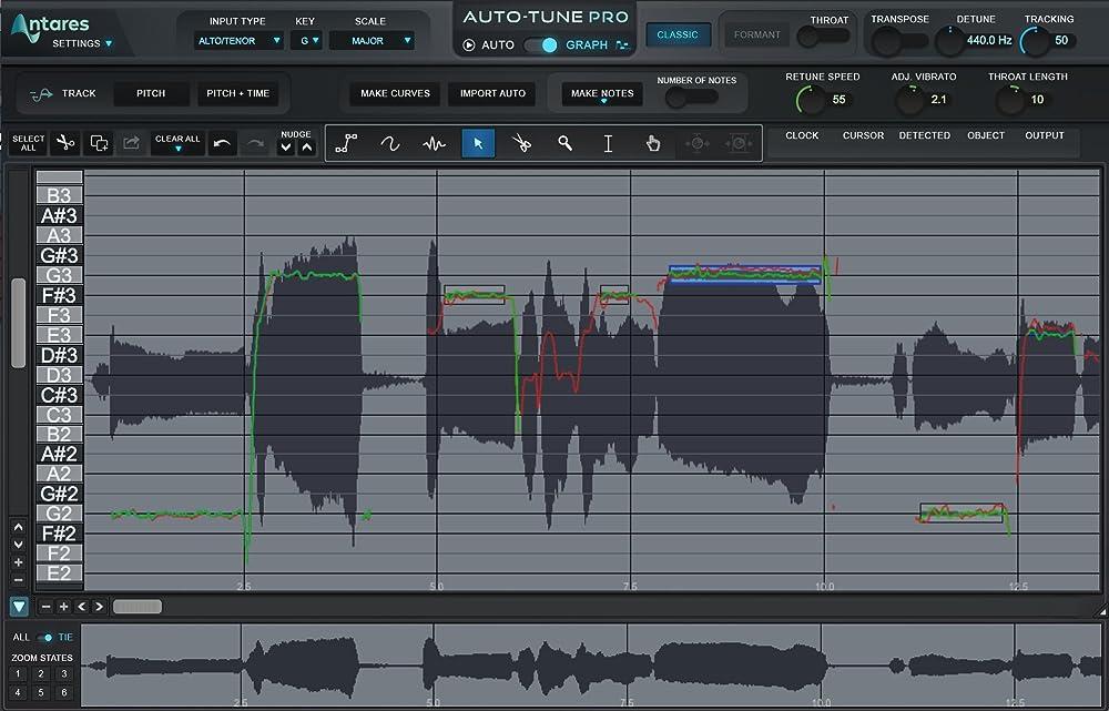 Auto-Tune Pro:波形編集