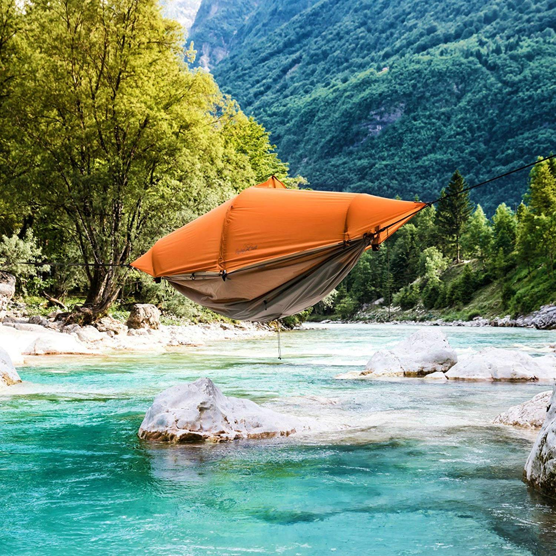 Flying Tent Baumzelt - 1 Personen Biwak Zelt Zelt Zelt Hängematte Poncho Outdoor Trekking B071VCFRVS Wurfzelte Eleganter Stil 6a6b8f