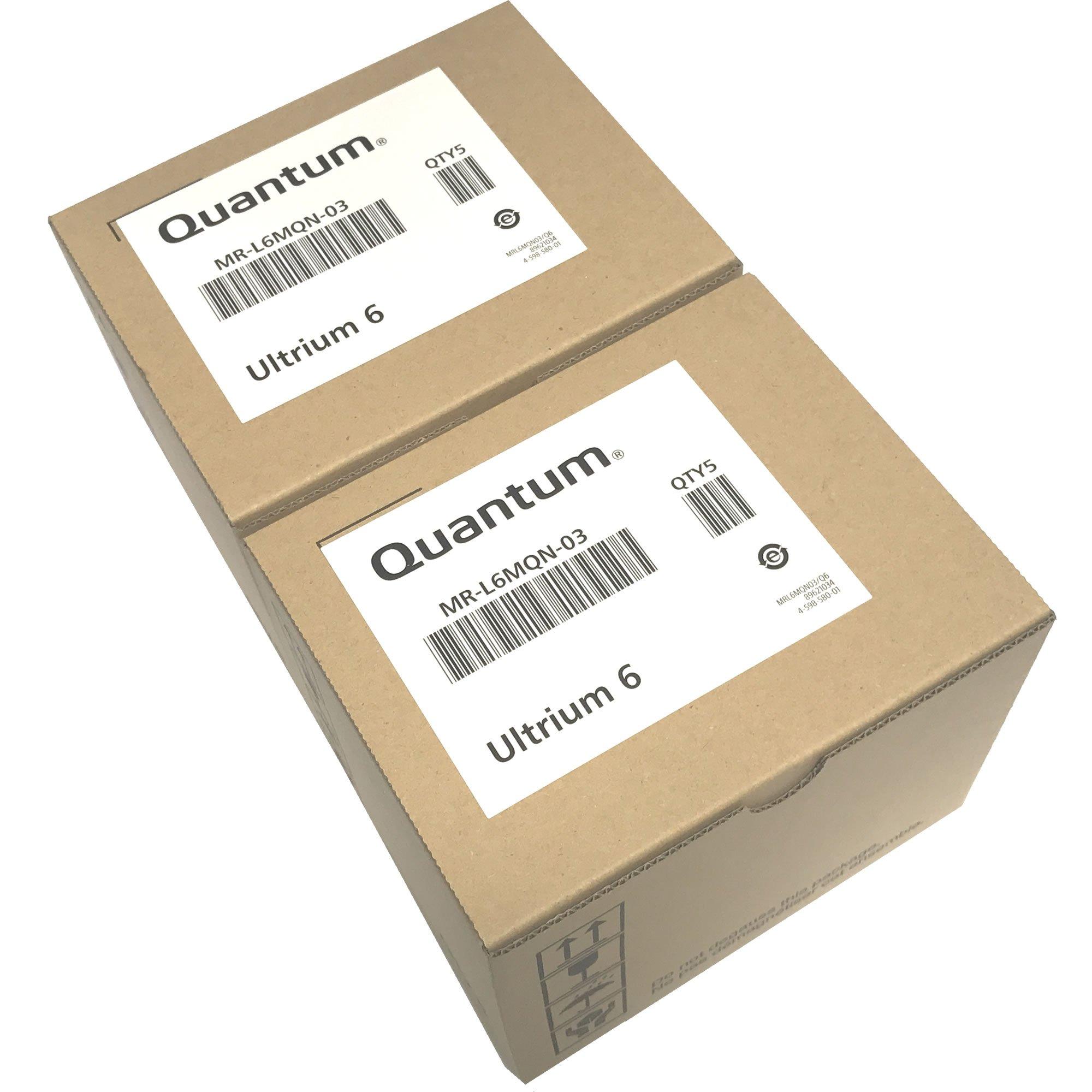 10-Pack Quantum MR-L6MQN-03 LTO 6 Ultrium (2.5/6.25 TB) Data Tape Cartridges