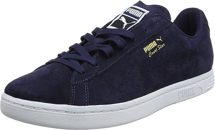 Puma Court Star Sneaker Damen Herren Unisex Blau (Peacoat)