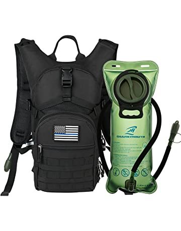 d32a9eeaba2 SHARKMOUTH Tactical MOLLE Hydration Pack Backpack 900D with 2L Leak-Proof  Water Bladder, Keep