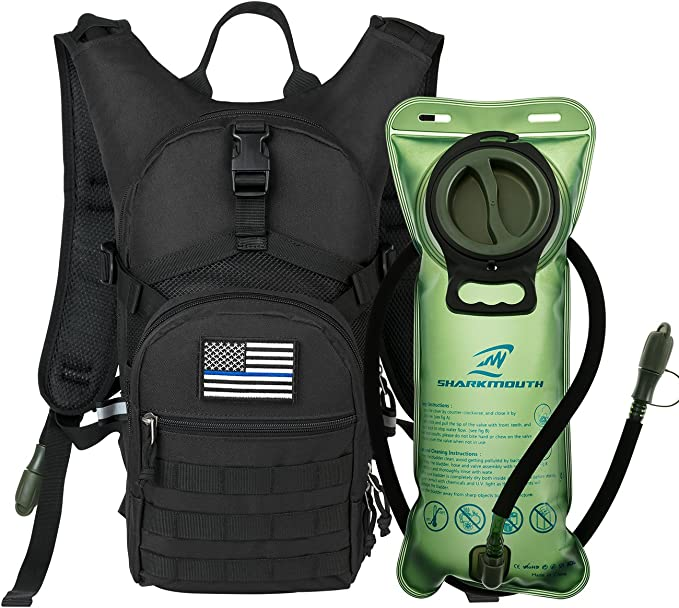 SHARKMOUTH Tactical MOLLE Hydration Pack Backpack 900D