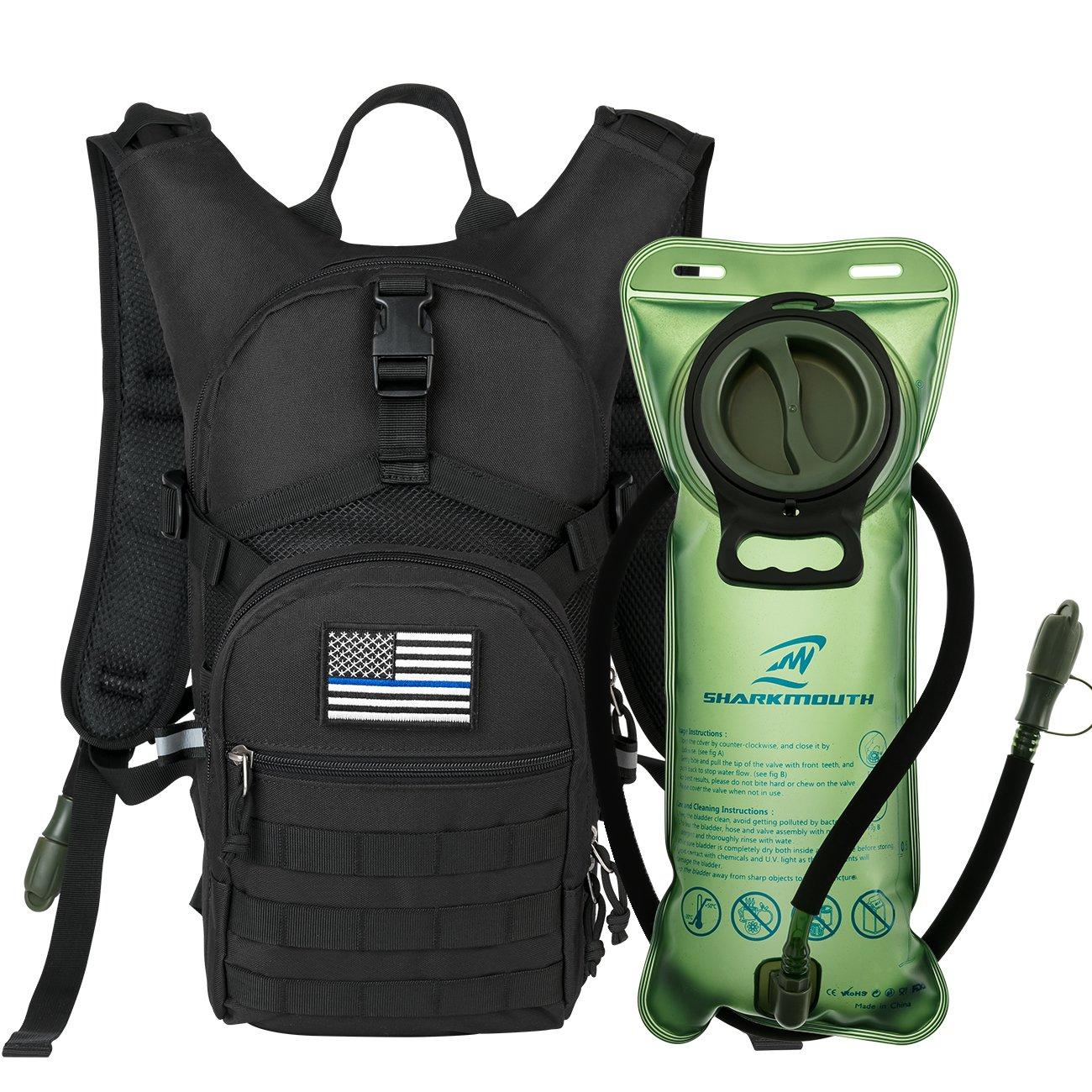 SHARKMOUTH 2L Leak-Proof Water Bladder Hydration Backpack
