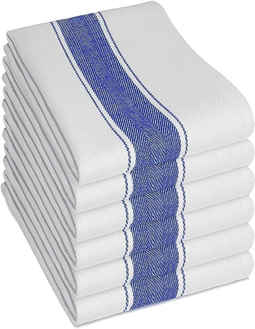 Pack de 6 Paños de cocina (3 unidades, grandes 100% algodón ...