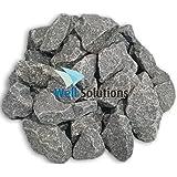 WelaSol Aufguss Saunasteine geprüfte und vorgewaschene Premium Olivin-Diabas Steine für Sauna Ofen ca. 19 - 20 kg