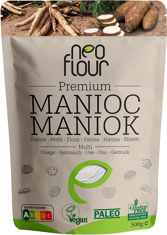 Harina de Yuca Premium / Sin gluten / 100% natural / Sin conservantes / Sin aditivos / VEGAN / PALEO / para pastelería y cocina: Amazon.es: Alimentación y bebidas