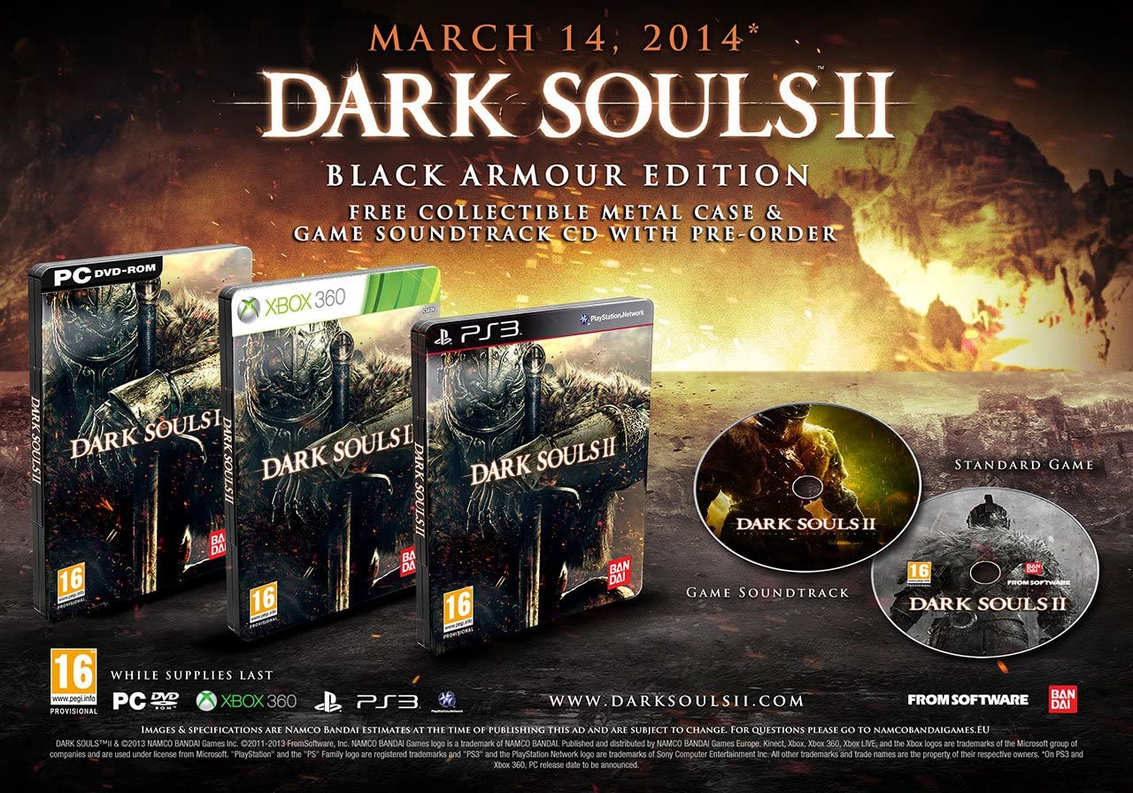 Dark Souls II - Black Armour Edition (Xbox 360) [importación ...